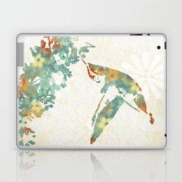 Colorful Teal Hummingbird Art Laptop & iPad Skin
