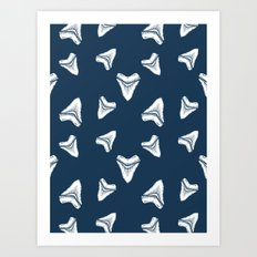 Sharks Tooth Pattern Art Print