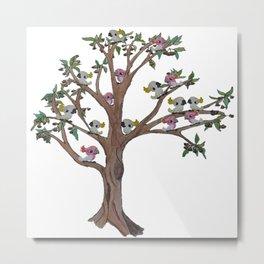 Cockatoos sitting in a Gum Tree Metal Print