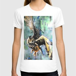 The Hunt. Great Horned Owl. owl painting T-shirt