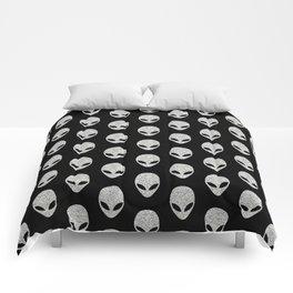 Glitter Grey Aliens Comforters
