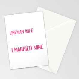People Dream of Meeting their Hero Lineman Wife T-Shirt Stationery Cards