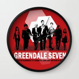 Greendale Seven Wall Clock