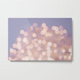Light Pink Blurry Lights (Color) Metal Print
