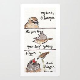 Bird no. 258: Cuckoo Haiku Art Print