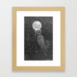 Moon Head Framed Art Print