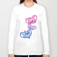 bisexual Long Sleeve T-shirts featuring Secret Undercover Bisexual Koaloids by Arinko