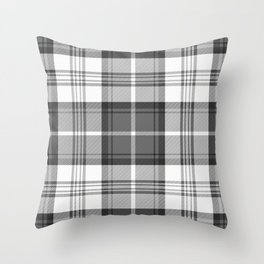 Black & White Tartan Throw Pillow