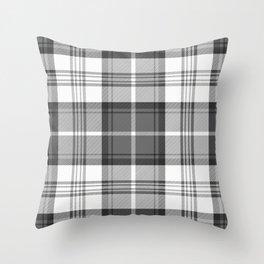 Black & White Tartan Throw Pillow