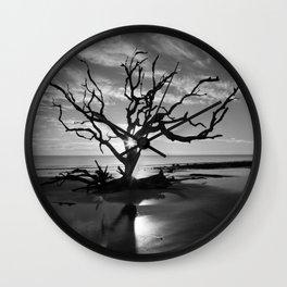 Tree at Sunrise Wall Clock
