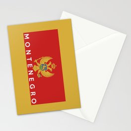 Montenegro country flag name text Stationery Cards