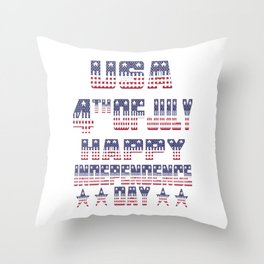 America Day Independence Throw Pillow
