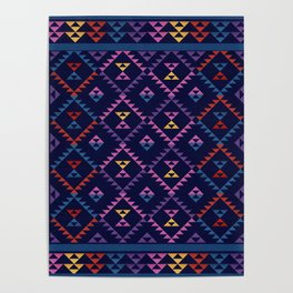 Bohemian Kilim Ethnic Pattern 1 Poster