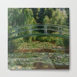 """Claude Monet """"The Japanese Footbridge and the Water Lily Pool, Giverny"""" Metal Print"""