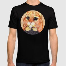 Puss In Boots. Mens Fitted Tee Black MEDIUM