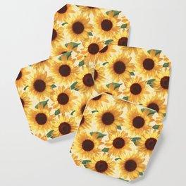 Happy Yellow Sunflowers Coaster