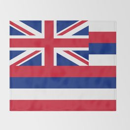 Flag of Hawaii, High Quality image Throw Blanket