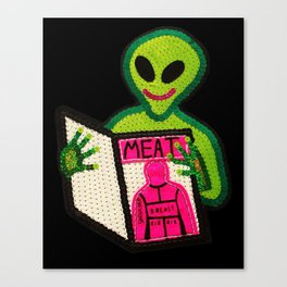 Hungry Bad Alien  Canvas Print