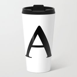 Letter A Metal Travel Mug
