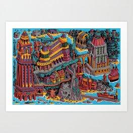 Mumbo Jumbo City (Color) Art Print