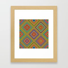 hang on to rhomb self Framed Art Print
