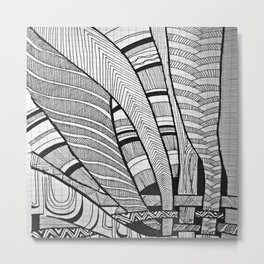 Weaving Metal Print