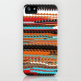 Distorted Indian Blanket Design iPhone Case