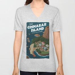 Cinnabar Island Travel Poster Unisex V-Neck