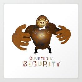 Courteous Security Art Print