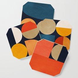 mid century geometric abstract Coaster