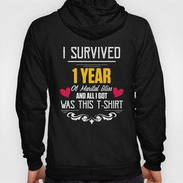 First 1st 1 year Wedding Anniversary Gifts Husband Wife product Hoody
