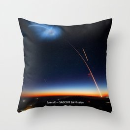 SpaceX — SAOCOM 1A Mission Throw Pillow