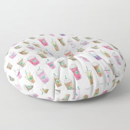 Coffee Cup Party in Marshmallow Floor Pillow