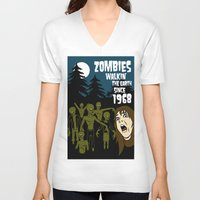 the walking dead V-neck T-shirts featuring Walking Dead by grawiton