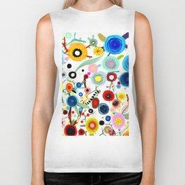 Rupydetequila whimsical floral art 2018 Biker Tank