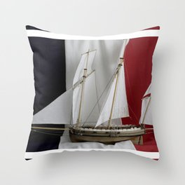 Le Coureur, french flag Throw Pillow