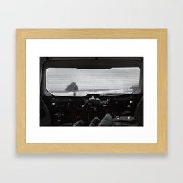 Car Camping at Cape Kiwanda Framed Art Print