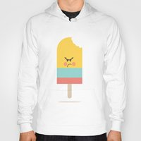 icecream Hoodies featuring Moody Icecream by Marie O'Neill
