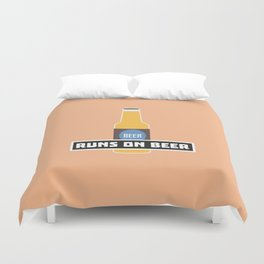 Runs on Beer T-Shirt for all Ages D7ta2 Duvet Cover