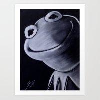 kermit Art Prints featuring KERMIT by John McGlynn