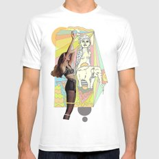 native elephant White Mens Fitted Tee MEDIUM