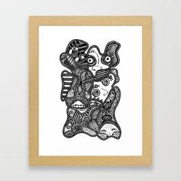 Faces in the Dark Framed Art Print