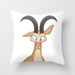 Cute Springbok Butterfly Illustration Throw Pillow