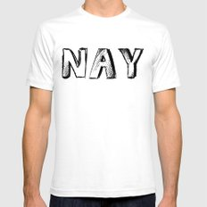 NAY Mens Fitted Tee White SMALL