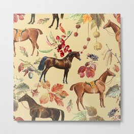 AUTUMN HORSES - Sunlight  Metal Print