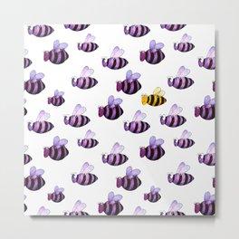 Bee different Metal Print