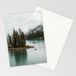 Emerald Landscape Photography | Maligne Lake | Jasper Alberta | Spirit Island Stationery Cards