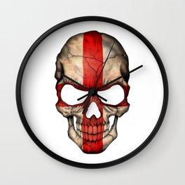 Exclusive England skull design Wall Clock