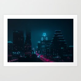 Foggy Nights Art Print