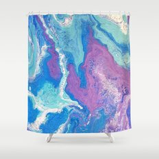 Lavender Blue Shower Curtain